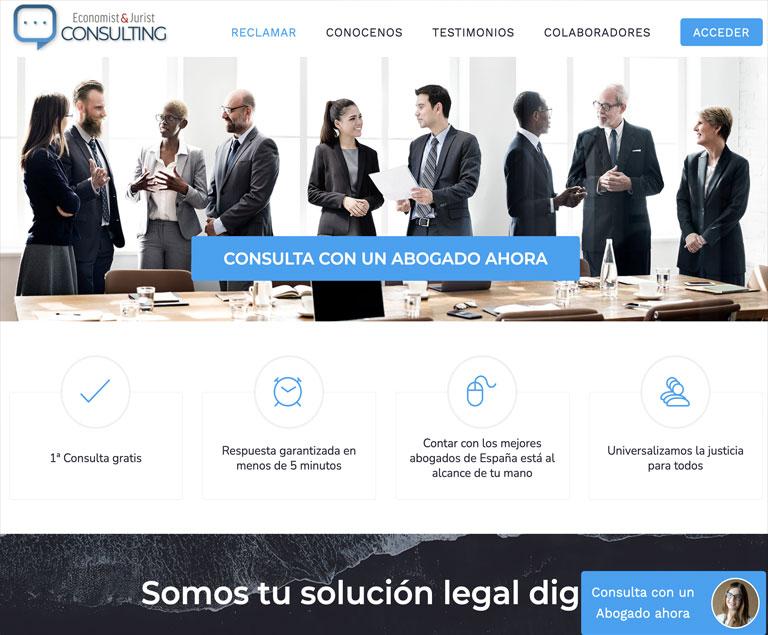Diseño web Economist & Jurist