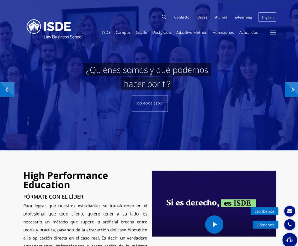 Diseño web ISDE