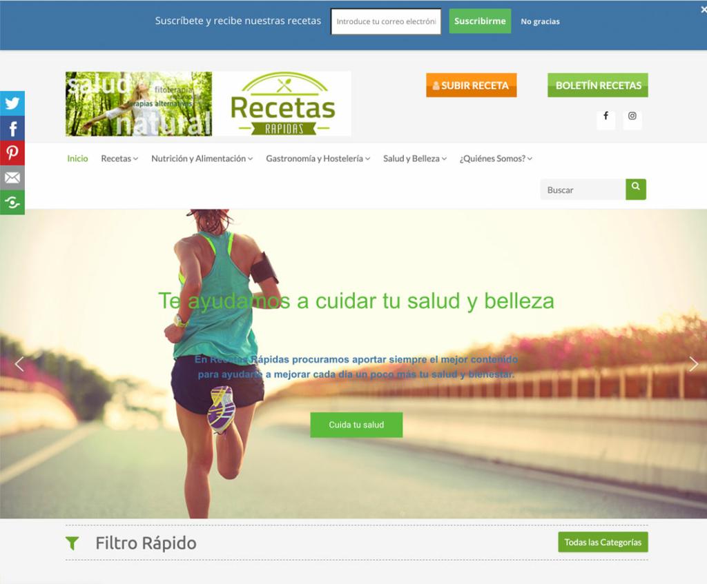 Diseño web recetas rapidas