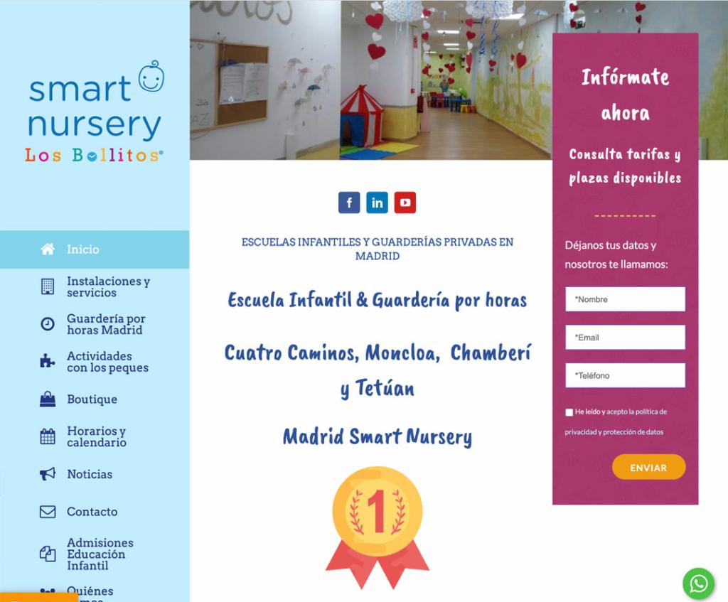Diseño web Smart Nursery