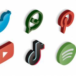 Logos diferentes redes sociales